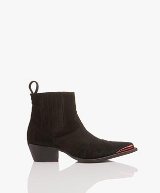 Zadig & Voltaire Erin Metal Boots - Black