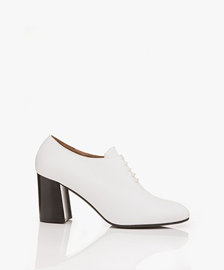 ATP Atelier Rafano Leather Ankle Boots - White Vacchetta