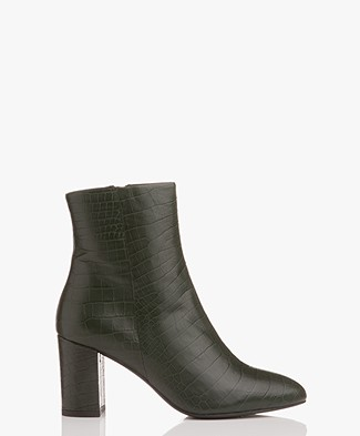 Filippa K Miranda High Bootie - Emerald Croco
