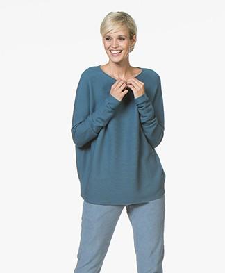 Drykorn Milty Ribgebreide Pullover - Jeans Blauw
