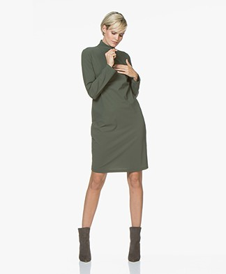 Josephine & Co Rudie Jersey Zip Dress - Army