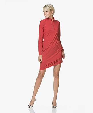 Josephine & Co Rudie Jersey Zip Dress - Red
