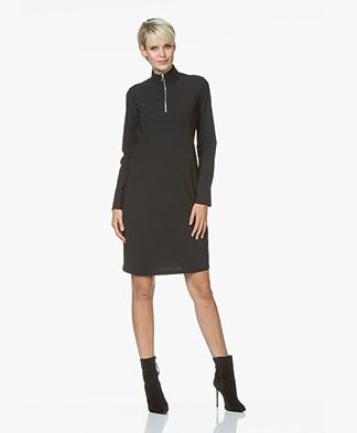 Josephine & Co Rudie Jersey Zip Dress - Black