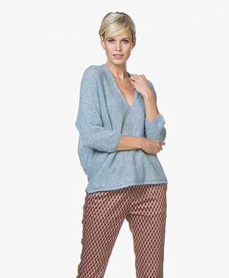 Drykorn Silja Delicate Alpaca Blend Sweater - Light Blue