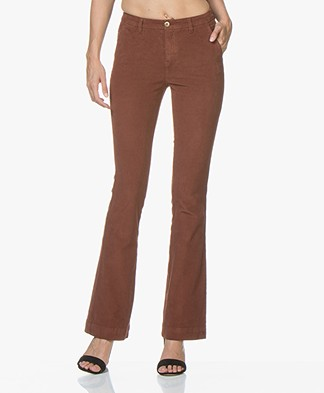 BY-BAR Leila Corduroy Flared Pants - Cognac