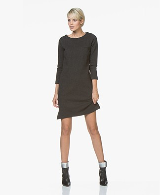BY-BAR Noor Striped Jersey Dress - Grey/Black