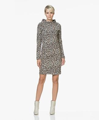 Josephine & Co Joyce Leopard Jacquard Dress - Beige/Brown/Black