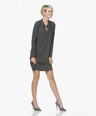 Josephine & Co Robby Travel Jersey Dress - Dark Grey