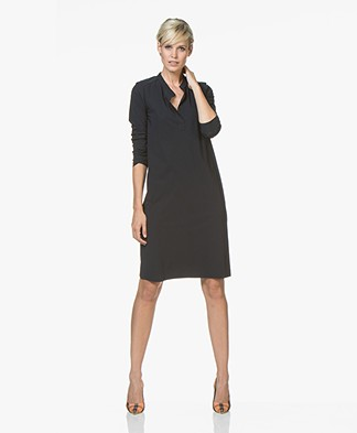 Josephine & Co Robby Travel Jersey Jurk - Navy