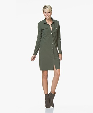 Josephine & Co Ron Travel Jersey Blousejurk - Army