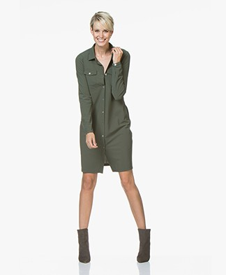 Josephine & Co Ron Travel Jersey Shirt Dress - Army