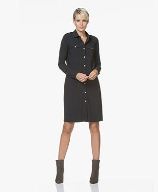 Josephine & Co Ron Travel Jersey Shirt Dress - Navy