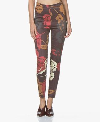 Kyra & Ko Julia Skinny Printed Pants - Aubergine