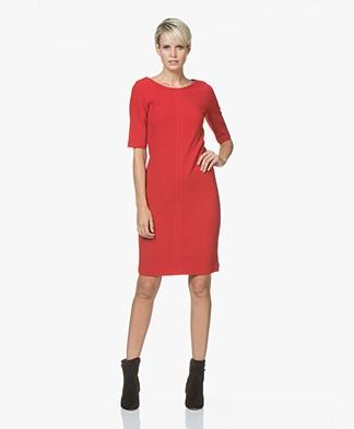 Kyra & Ko Suza Twill Jersey Dress - Red