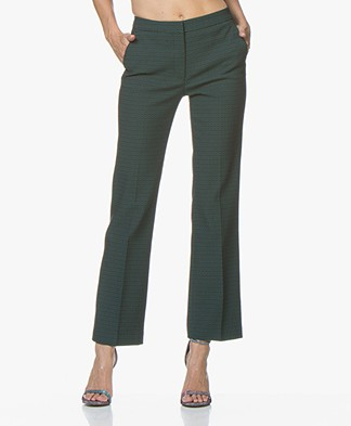 no man's land Jacquard Trousers - Bright Emerald
