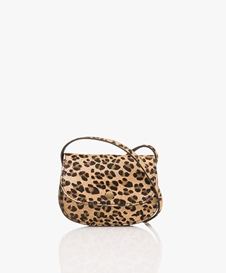 BY-BAR Hair Leopard Cross-body Bag - Brown