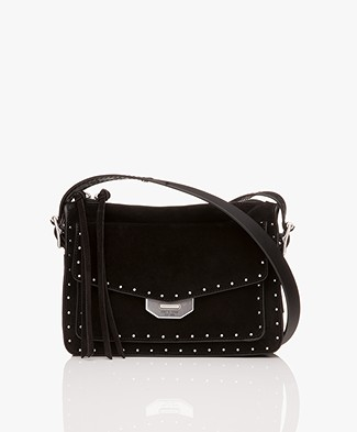 Rag & Bone Small Field Messenger Schoudertas - Zwart Studs