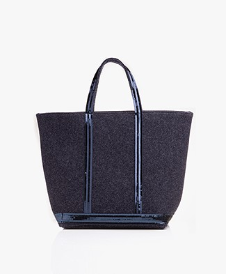 Vanessa Bruno Cabas Moyen Shopper in Vilt - Denim