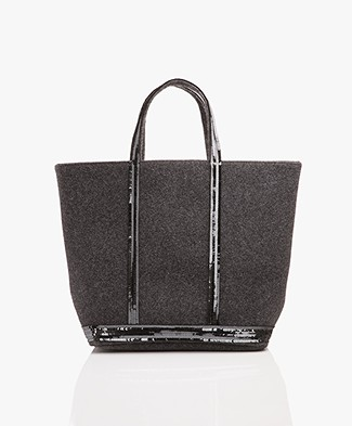 Vanessa Bruno Cabas Moyen Shopper in Felt - Anthracite