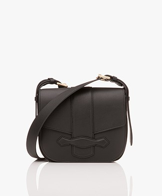 Vanessa Bruno Gemma Leather Flap Bag - Black
