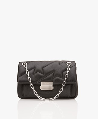 Zadig & Voltaire Ziggy Matelasse Shoulder Bag - Black