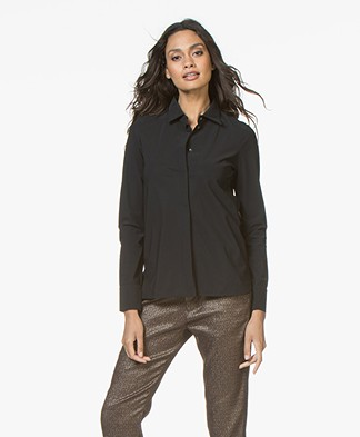 Josephine & Co Rolf Travel Jersey Blouse - Zwart
