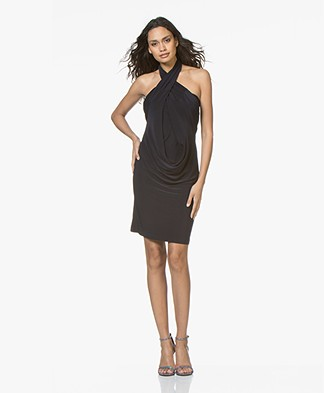 Norma Kamali All-in One Jersey Jurk - Midnight