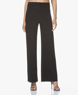 Norma Kamali Straight Leg Travel Jersey Pants - Midnight