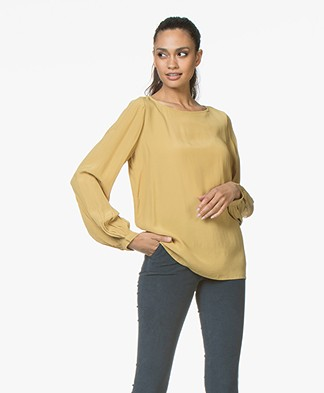 BY-BAR Goods Crepe Blouse - Mustard