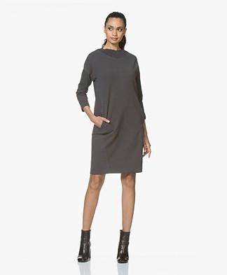 BY-BAR Jikke French Terry Sweater Dress - Phantom Black
