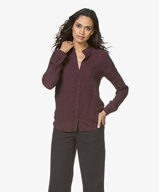 BY-BAR Kitty Viscose Printed Blouse - Port