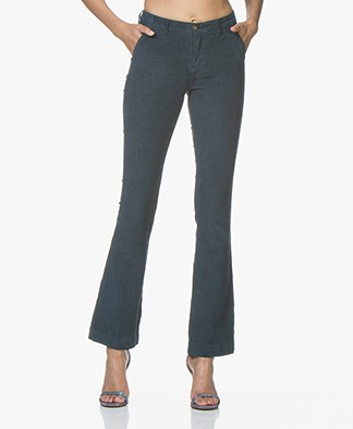 BY-BAR Leila Corduroy Flared Pants - Oil Blue