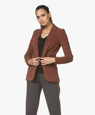 BY-BAR Stef Corduroy Blazer in Cotton - Cognac