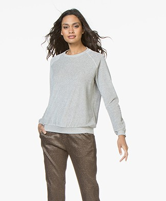 BY-BAR Teddy Velvet Sweater - Grey Melange
