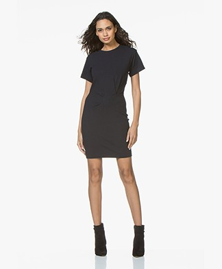 By Malene Birger Ofiniol Jersey Pleated T-shirt Dress - Midnight Heaven