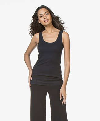 By Malene Birger Ribbed Tank Top Newdawn - Midnight Heaven