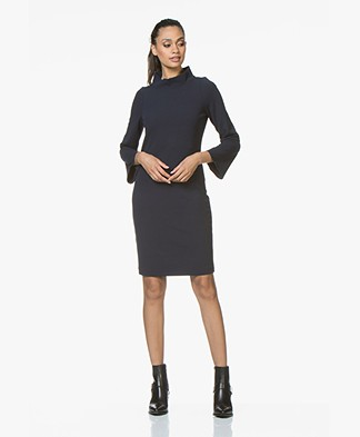 Josephine & Co Ray Jurk met Cropped Mouwen - Navy