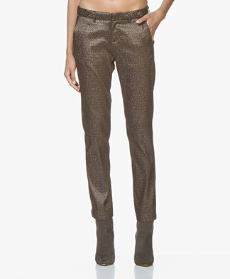MKT Studio Panitou Stretchy Lurex Pants - Copper
