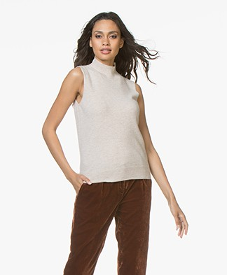 Repeat Cashmere Sleeveless Turtleneck - Beige