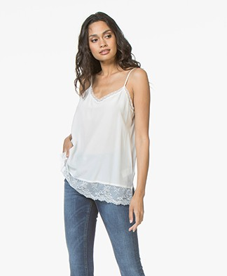 Repeat Silk and Lace Camisole - Cream