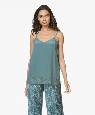 Repeat Silk and Lace Camisole - Lake