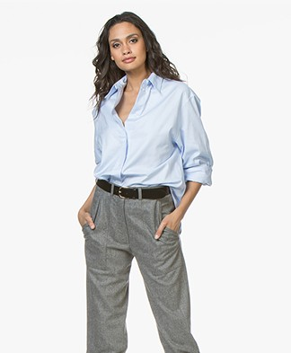 Vanessa Bruno Heliane Cotton Shirt - Ciel