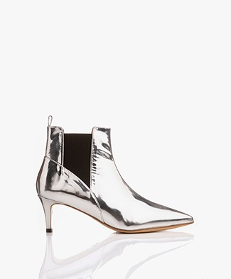 By Malene Birger May Metallic Ankle Boots - Silver