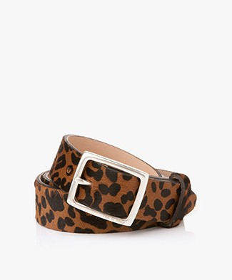 Rag & Bone Boyfriend Hair Belt - Tan Leopard