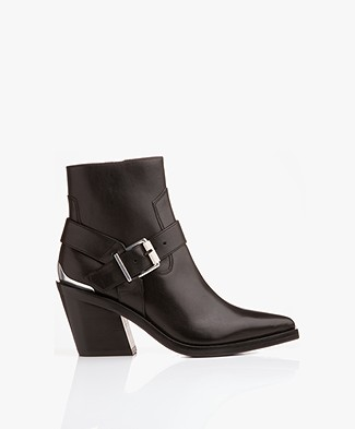 Rag & Bone Ryder Leather Booties - Black