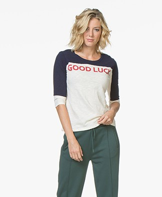ba&sh Vook Good Luck T-shirt - Crème