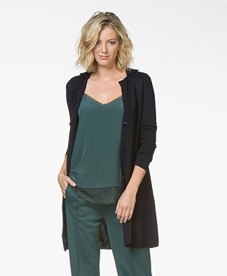 Belluna Sixteen Long Blazer Cardigan - Navy