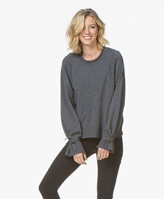Drykorn Laureen Tie Cuff Sweater - Dark Grey