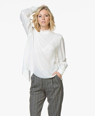 Filippa K Silk Ruffle Blouse - Off-white