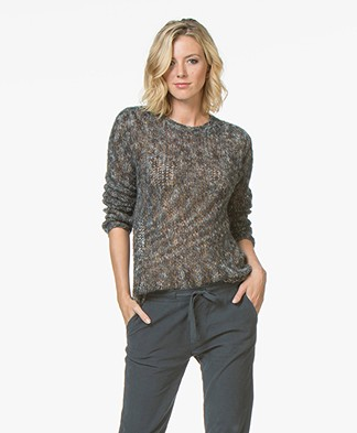 indi & cold Multicolored Knitted Sweater - Plomo